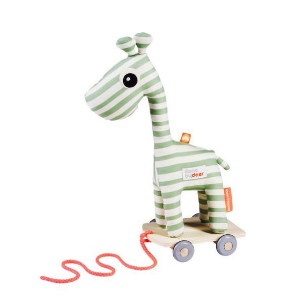 Jouet à tirer - Girafe Raffi vert