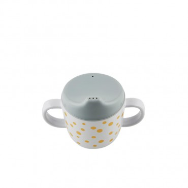 Tasse d'apprentissage - Pois or et gris