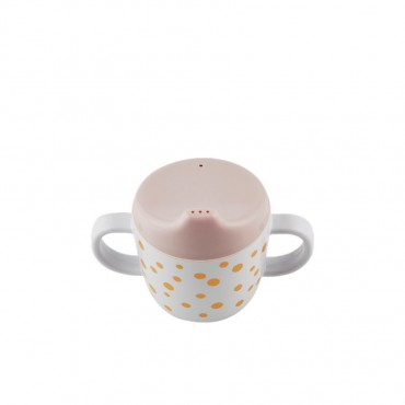 Tasse d'apprentissage - Pois or et rose