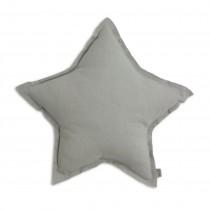 Coussin coton étoile - Gris