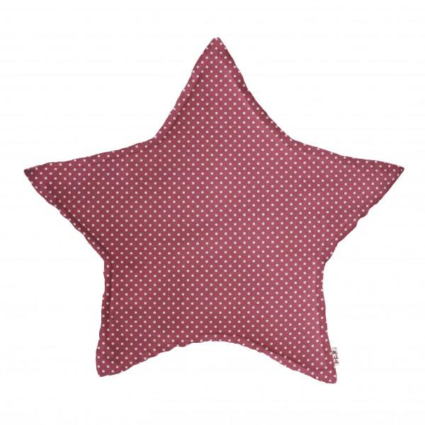 Coussin tissu étoile Pois - Rose