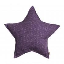 Coussin tissu Étoiles - Violet