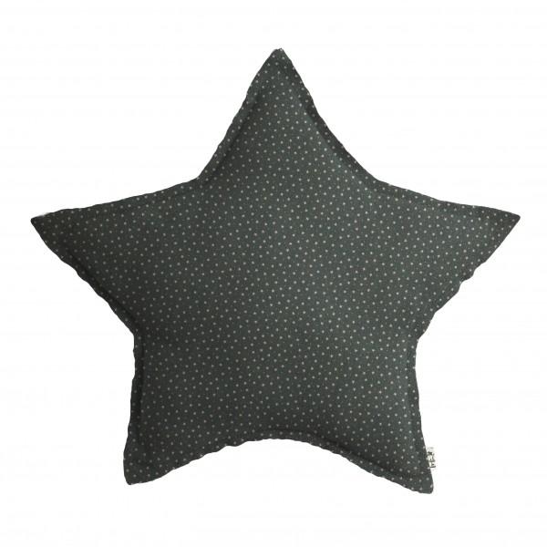 Coussin tissu Étoiles - Bleu