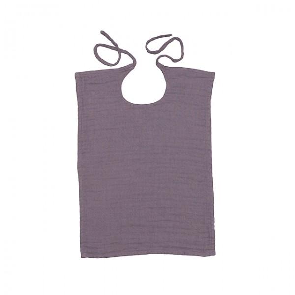 Bavoir rectangle lange uni - Prune Dusty Lilac