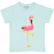 T-shirt enfant manches courtes - Flamant rose