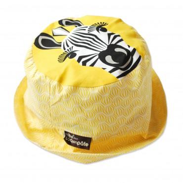 Bob coton bio jaune - Zèbre