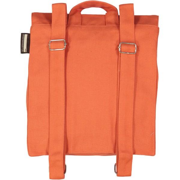 Petit cartable en coton bio Orange - Dauphin