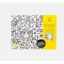 Sets de table à colorier - Keith Haring