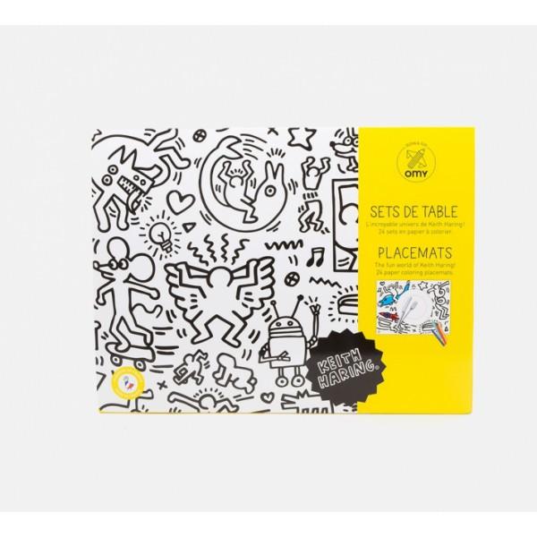 Set de table à colorier - Keith Haring 30x40 cm