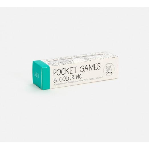 Pocket games & coloring - City