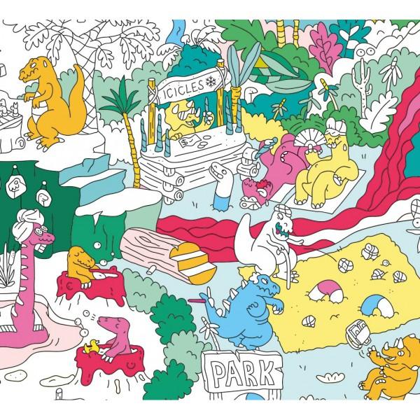 Poster à colorier - Dinos