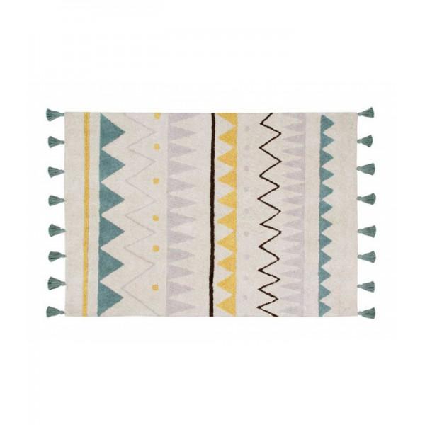 Tapis Azteca Natural - Vintage bleu