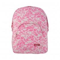 Grand sac à dos en canvas - Jouy rose