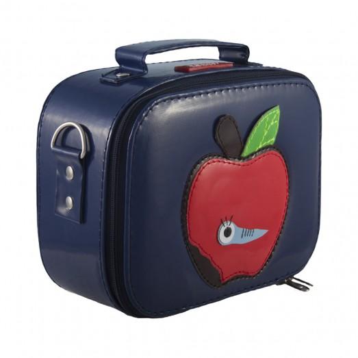 Lunchbox vinyle - Pomme bleu marine
