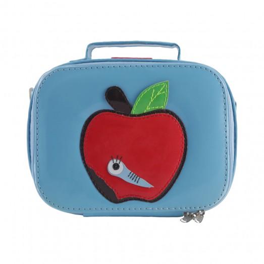 Lunchbox vinyle - Pomme bleu ciel