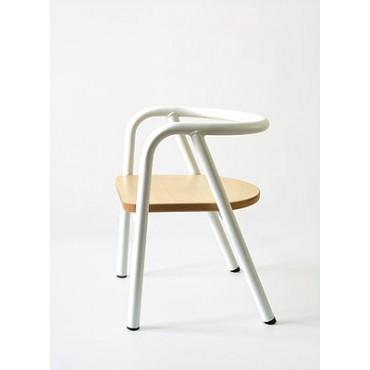 Chaise métal blanc