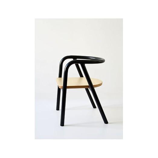 Chaise métal noir