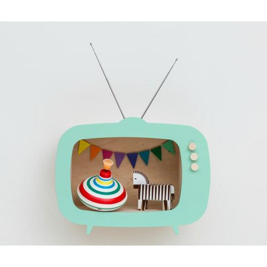Etagère TV menthe