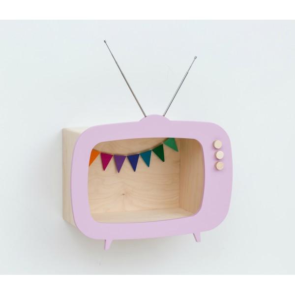 Etagère TV rose