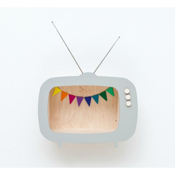 Etagère TV gris