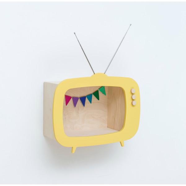 Etagère TV jaune