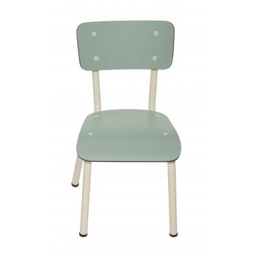 Chaise Little Suzie Bleu Jade - Pieds blancs
