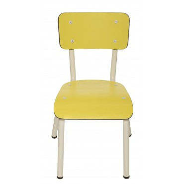 Chaise Little Suzie Jaune Citron - Pieds blancs