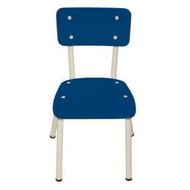 Chaise Little Suzie Bleu Cobalt - Pieds blancs