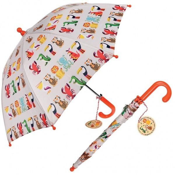 Parapluie enfant - Animaux colorés