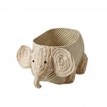 Panier à jouets raphia - Éléphant