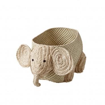 Coffre à jouets raphia - Éléphant