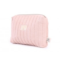 Trousse de toilette Travel - White bubble/Misty pink