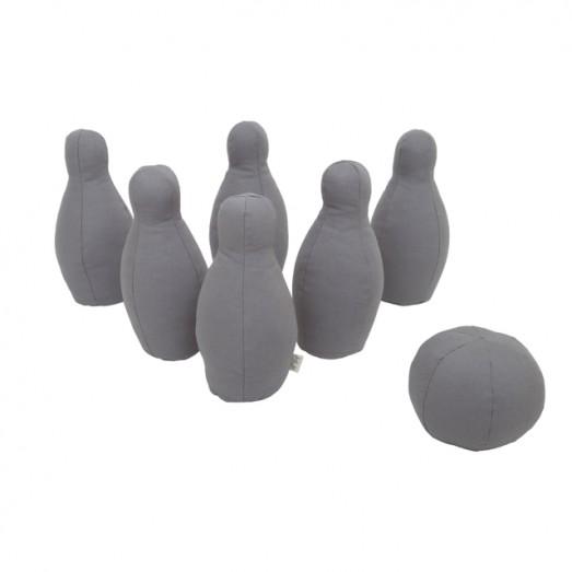 Jeu de bowling en toile - Stone grey