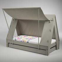Lit tente en bois - couchage 90x190 cm