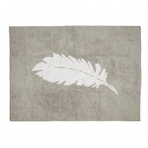 Tapis Plume blanche - Gris