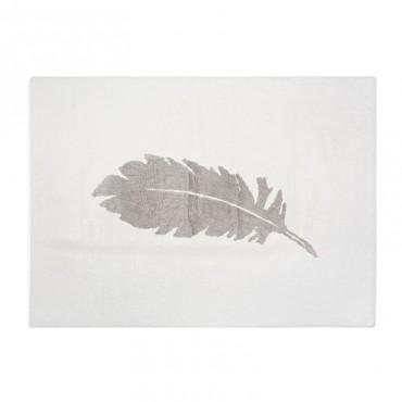 Tapis Plume grise - Blanc