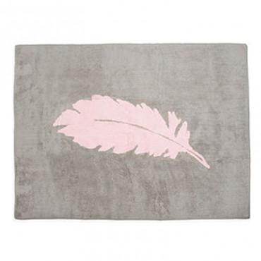 Tapis Plume rose - Gris