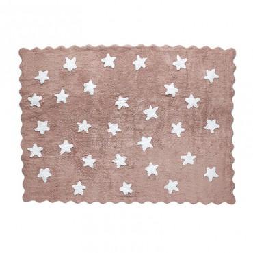 Tapis petites étoiles pleines - taupe