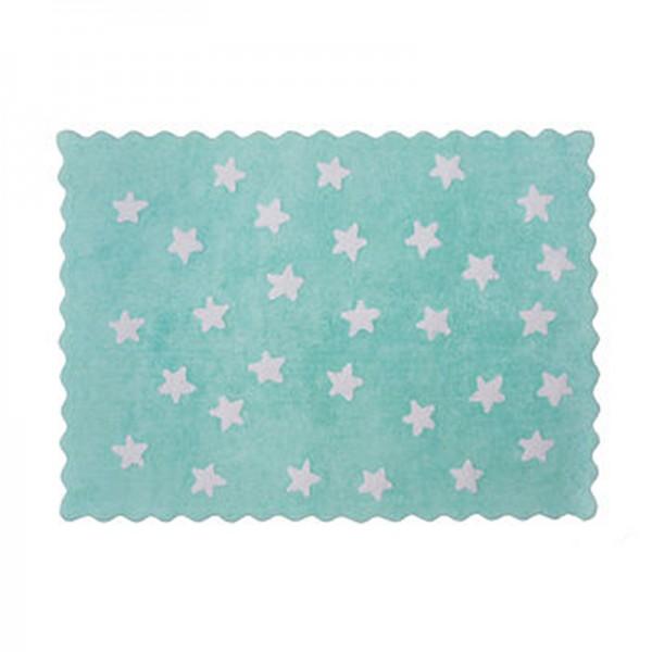 Tapis petites étoiles pleines - vert menthe