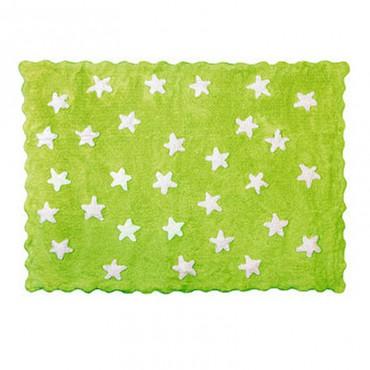 Tapis petites étoiles pleines - vert pistache