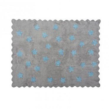 Tapis petites étoiles pleines - gris/bleu