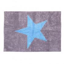 Tapis Estela Etoile bleue - Gris