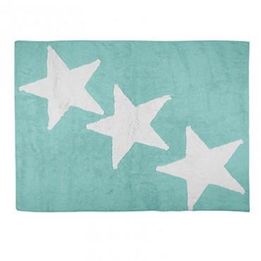 Tapis Europa 3 étoiles blanches - Vert menthe