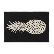 Tapis Ananas - Noir et blanc