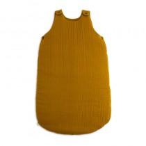 Gigoteuse en gaze de coton bio - Moutarde