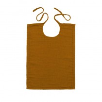 Bavoir rectangle en lange de coton - Moutarde