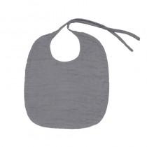 Bavoir rond en lange de coton bio - Gris ciment