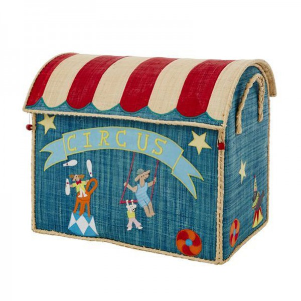 Coffre à jouets en raphia GM - Circus