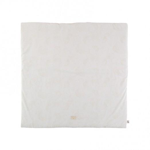 Tapis carré Colorado 100 x 100 cm - Gold Bubble/White