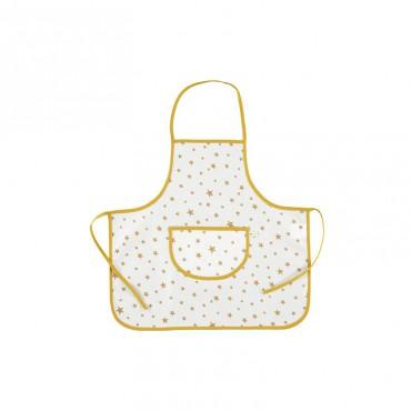 Tablier plastifié Sicilia - Mustard Stars